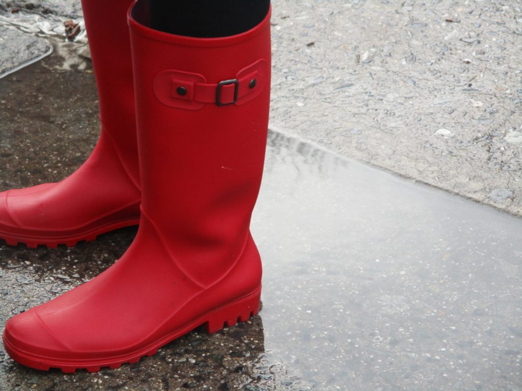 Taken by Jandely Age 8: Red Boots On A Rainy Day